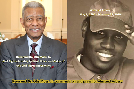 Reverend Dr. Otis Moss, Jr. and Ahmaud Arbery (Collage)