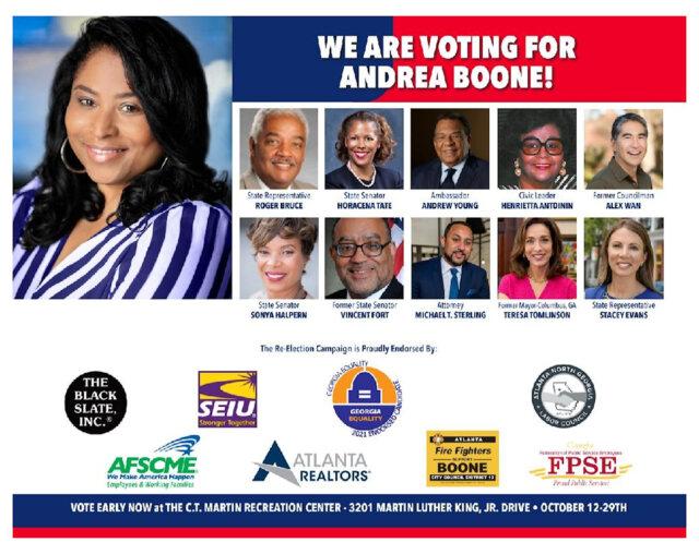 Andrea L Boone for Atlanta City Council (District 10) Ad
